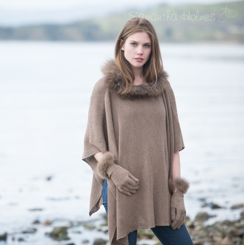 Alpaca Fur Cape (Nutmeg now only £130)