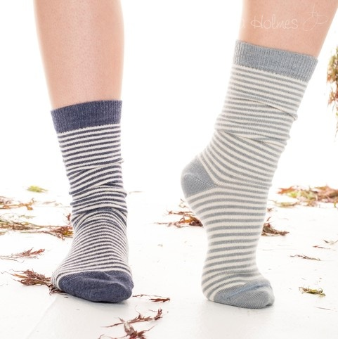 NEW - Ladies Stripey Alpaca Socks