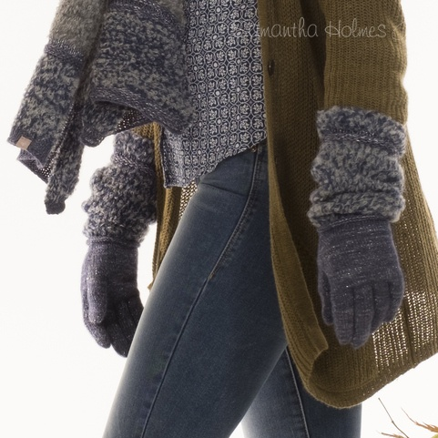 Alpaca Boucle Frost Long Gloves