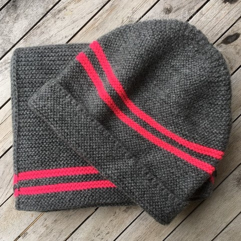 Alpaca Preppy Hat Neon Stripe