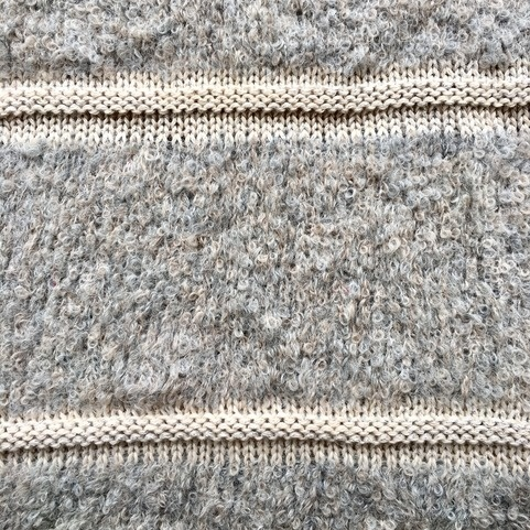 Frosted Boucle Fingerless Mittens