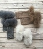 Alpaca Fur fingerless mittens