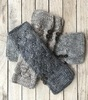 Frosted Alpaca Cableknit fingerless mittens (pre-order only)