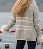 Frosted Boucle Sweater with boat neck Thumbnail