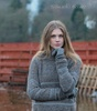 Frosted Boucle Sweater with funnel neck Thumbnail