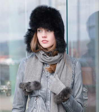 Alpaca Ladies Fur Trapper Hat