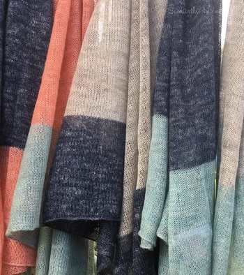 Alpaca & Linen Colour Block Scarf