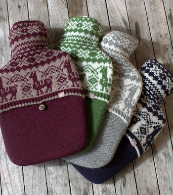Alpaca Fair Isle Hot Water Bottle