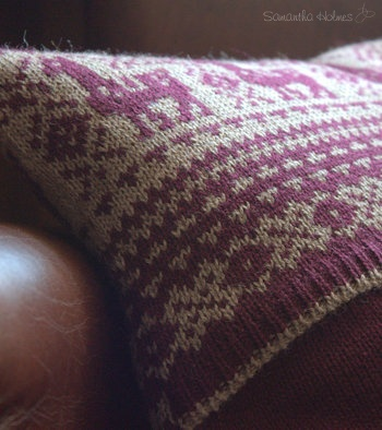 Alpaca Fair Isle Cushion