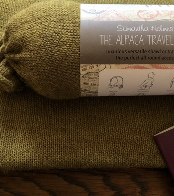 Alpaca Travel Shawl/Pillow