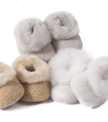 Alpaca Fur Baby Booties