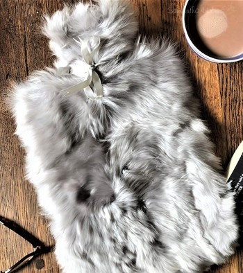 Alpaca Fur and Lambskin Hot Water Bottle