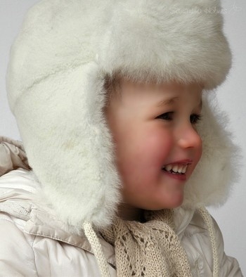 Alpaca Fur Baby Trapper Hat