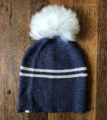 Classic Alpaca Preppy Hat with Pom Pom