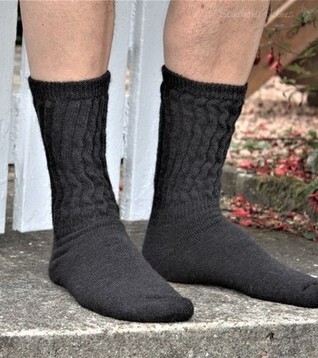 Rib Cushion Alpaca Socks 7-10 Large