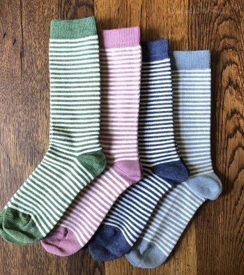 Ladies Stripey Alpaca Socks x4 Multipack